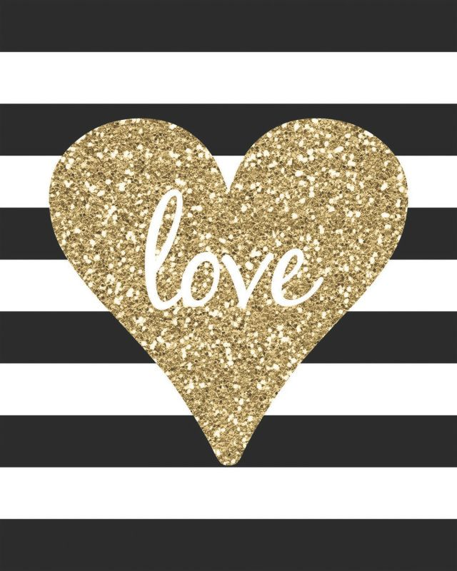 All You Need Is Love 8x10 Canvas Glitter Valentine/'s Day