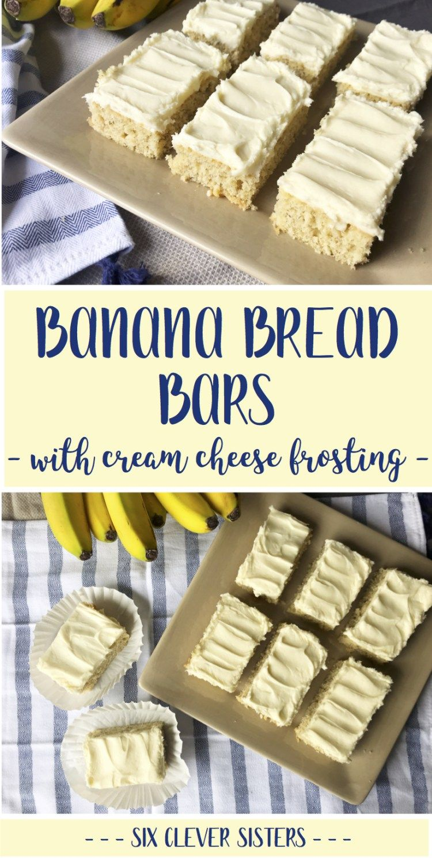 Banana Bread Bars #bananadessertrecipes