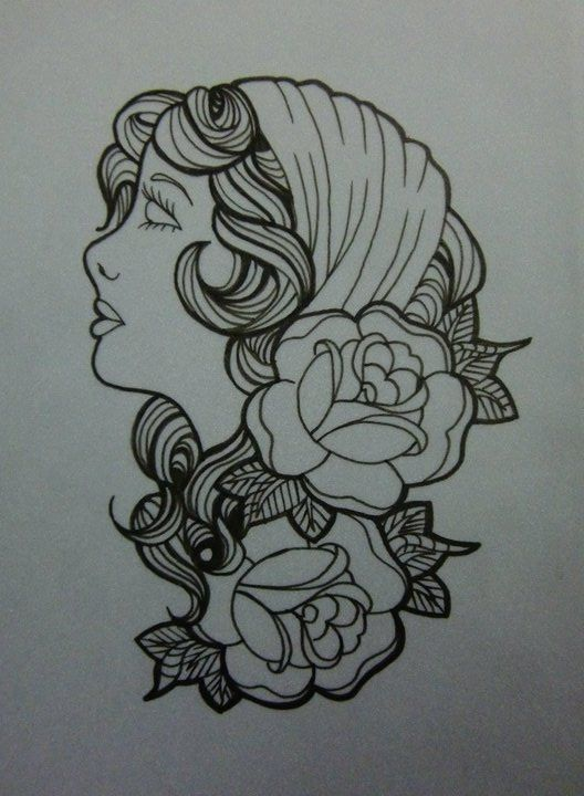 Traditional Tattoo Line Drawing : Tattoos neo traditional american