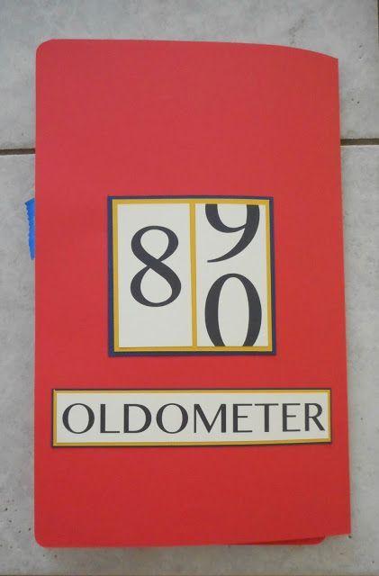Dads 80th Birthday Oldometer Fun Card Handmade Humorous Male