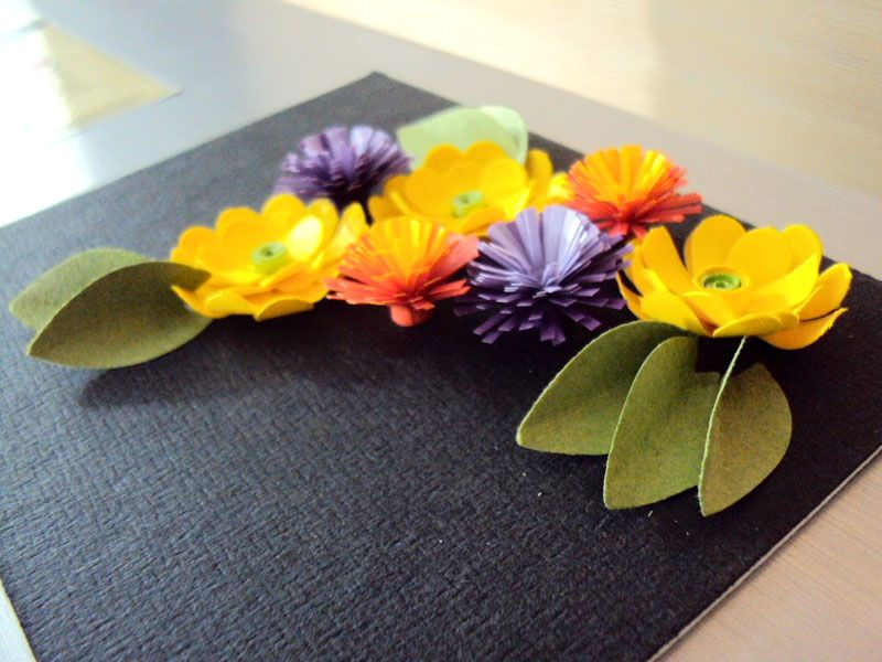 punch flower paper
