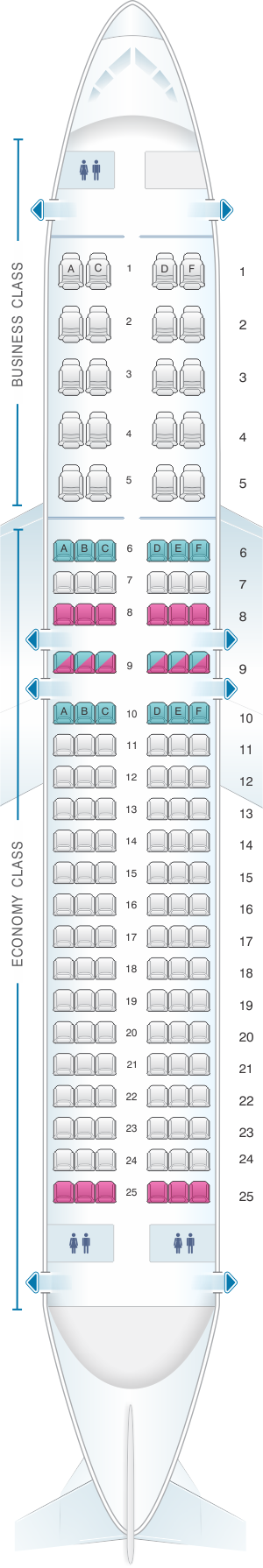 Seat Map Aeroflot Russian Airlines Airbus A320 200 Config1