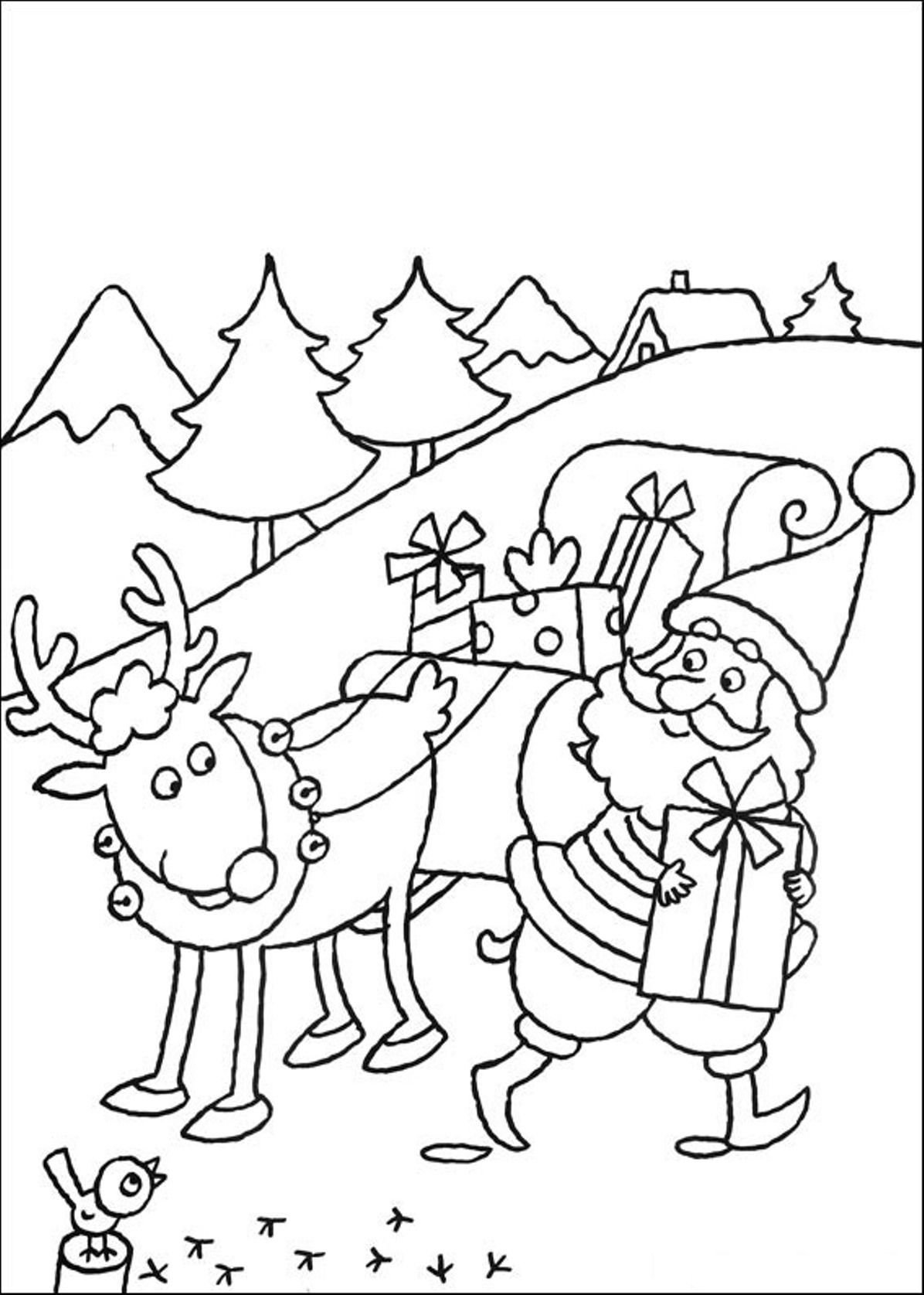 Reindeer Coloring Pages Christmas Coloring Pages Printable