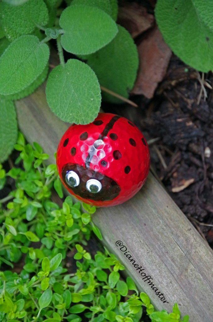 Golf Ball Lady Bug Craft   Golf ball crafts, Garden crafts diy, Golf ball