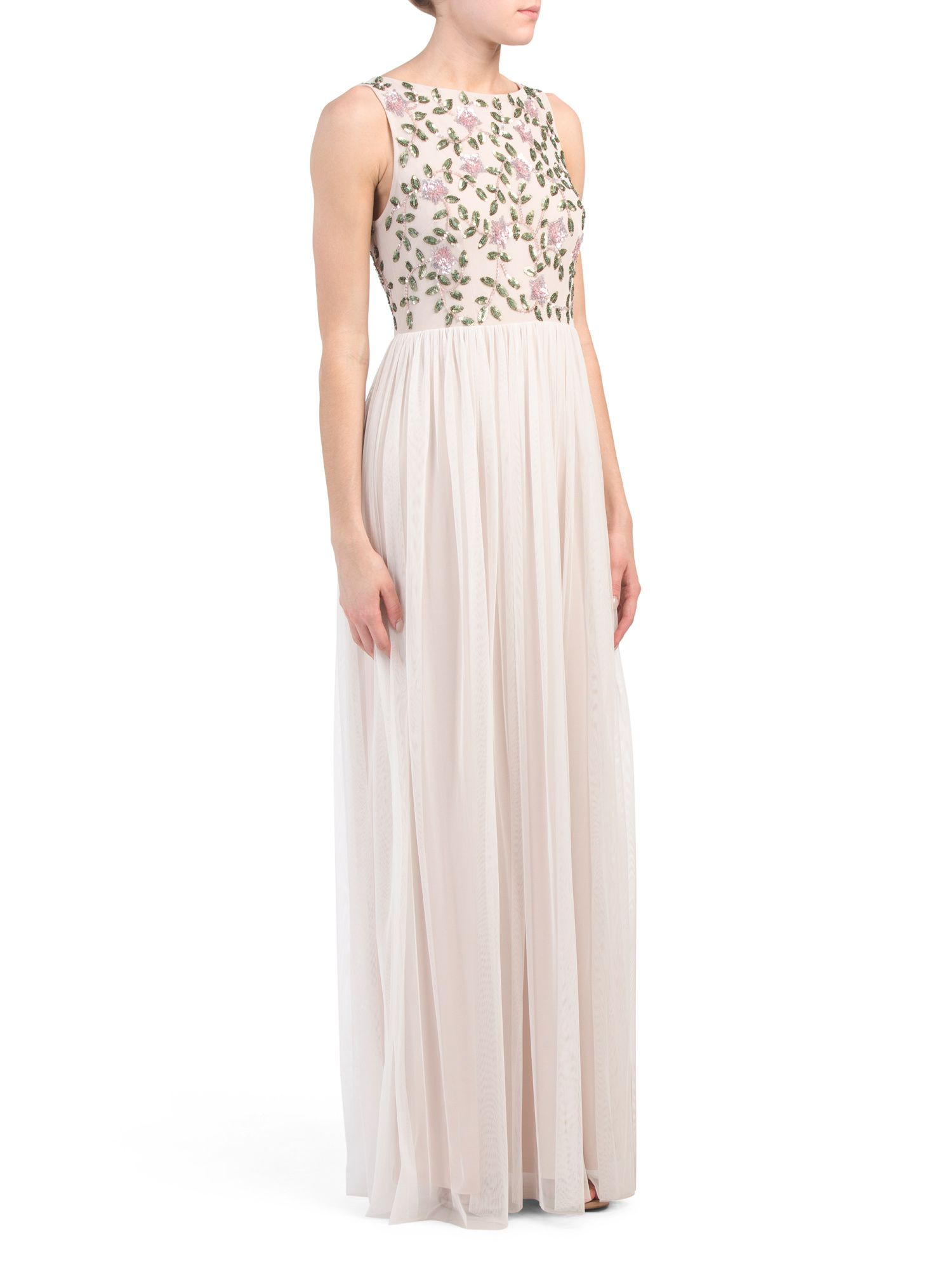 c974924d82947 Beaded Top Gown - Formal - T.J.Maxx   Wedding in 2019   Prom dresses ...