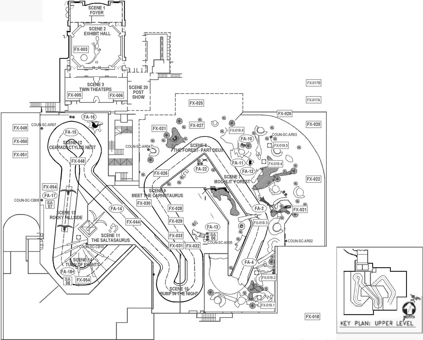 Amusement Authority Dinosaur Ride Layout
