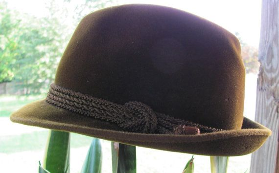 Vintage Anton Peschel Brown Velour Fedora by ROW66 on Etsy, $32.00