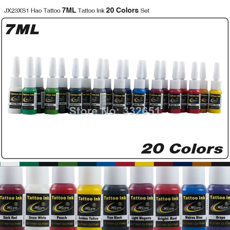 20 Colors Set Jx23xs1 Wholesale Tattoo Inks 7ml Bottle Permanent Makeup Ink Pigment Tattoo Supply For Body Art Tattoo Bottle Tattoo Ink Tattoo Tattoo Ink Sets