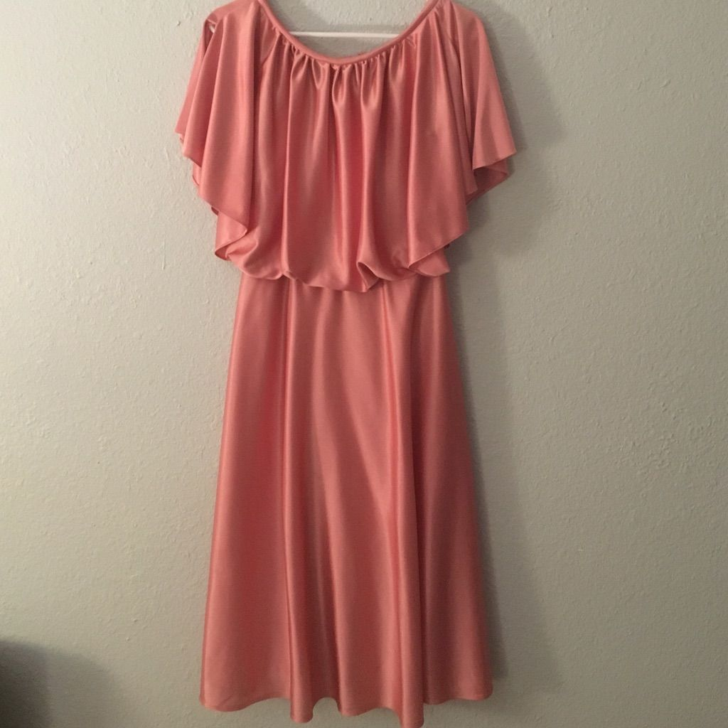 Fabulous s dress pink with flutter sleeves s dress and products
