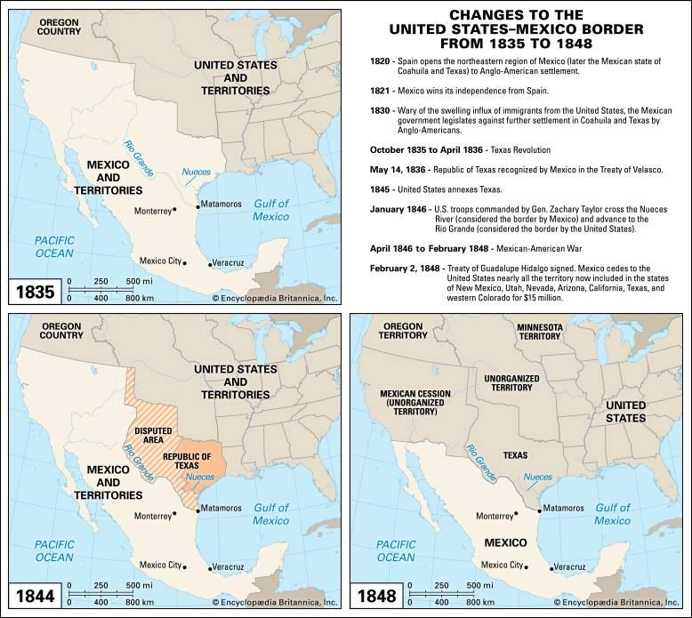 How the Border Between the United States and Mexico Was Established ...