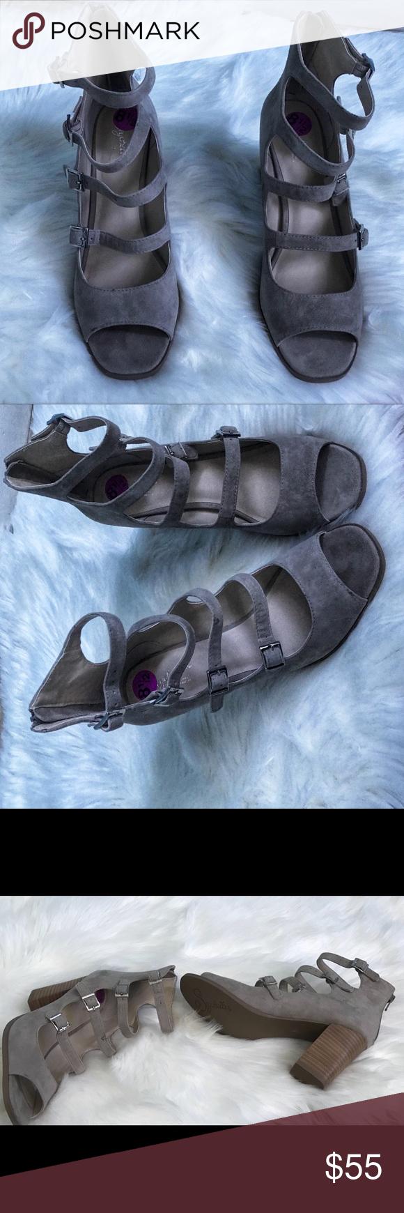 "7256c04e9b55 Seychelles Kayak Buckled Open Toe bootie Seychelles Kayak Buckled Open  Bootie Toe New Without Box Shaft 4"" Heel 3.5"" Seychelles Shoes Ankle Boots    Booties"