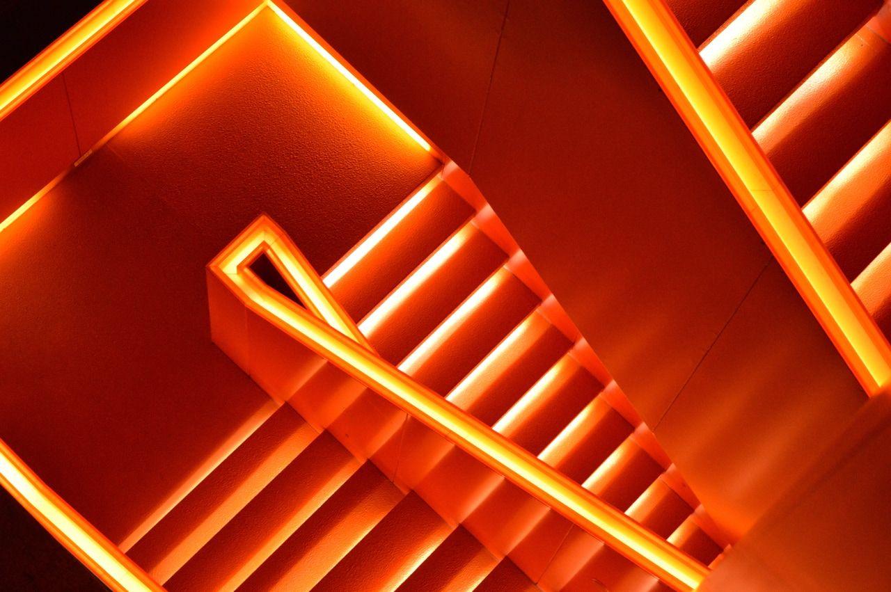 Orange Neon Aesthetic Wallpaper