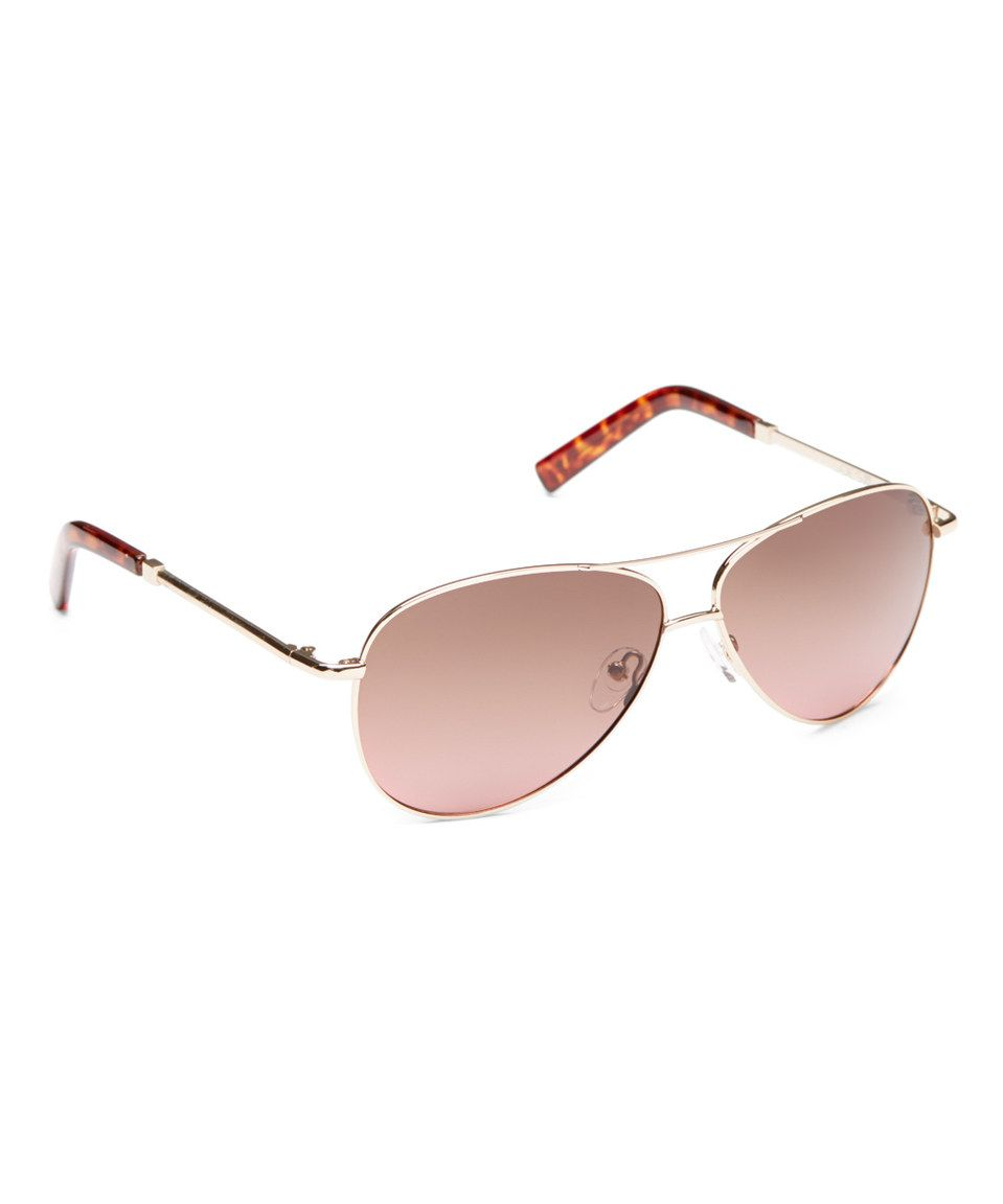 4a14439e05 This Joe s Jeans Gold Polarized Base 6 Aviator Sunglasses by Joe s Jeans is  perfect!  zulilyfinds