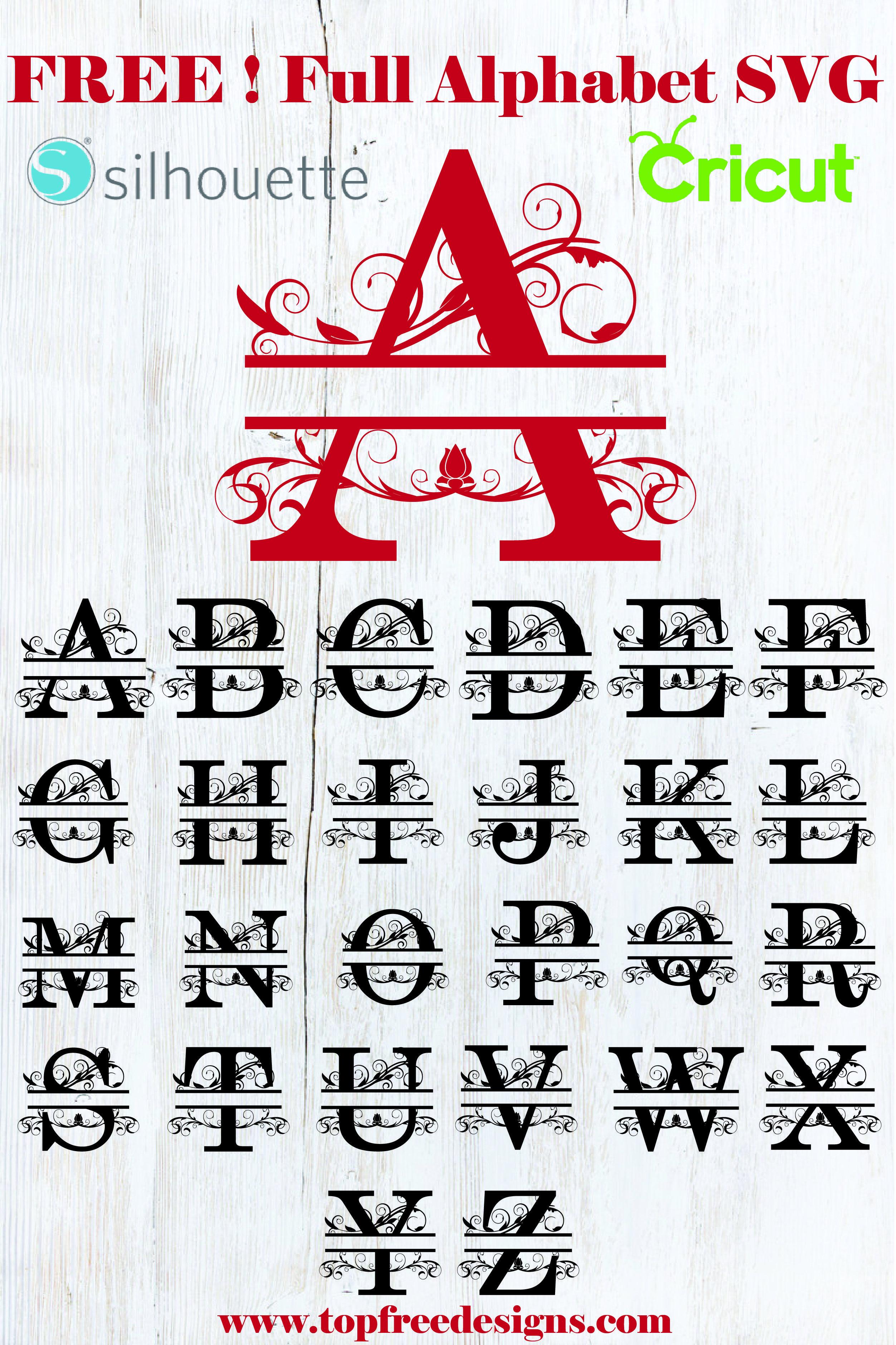 alphabet svg Calligraphy font alphabet cut file Monogram font svg Font file Svg alphabet Halloween font silhouette cameo cricut