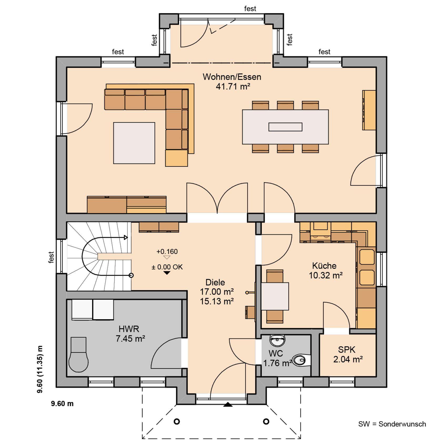 Küchenplan grundriss häuser  pinterest  house