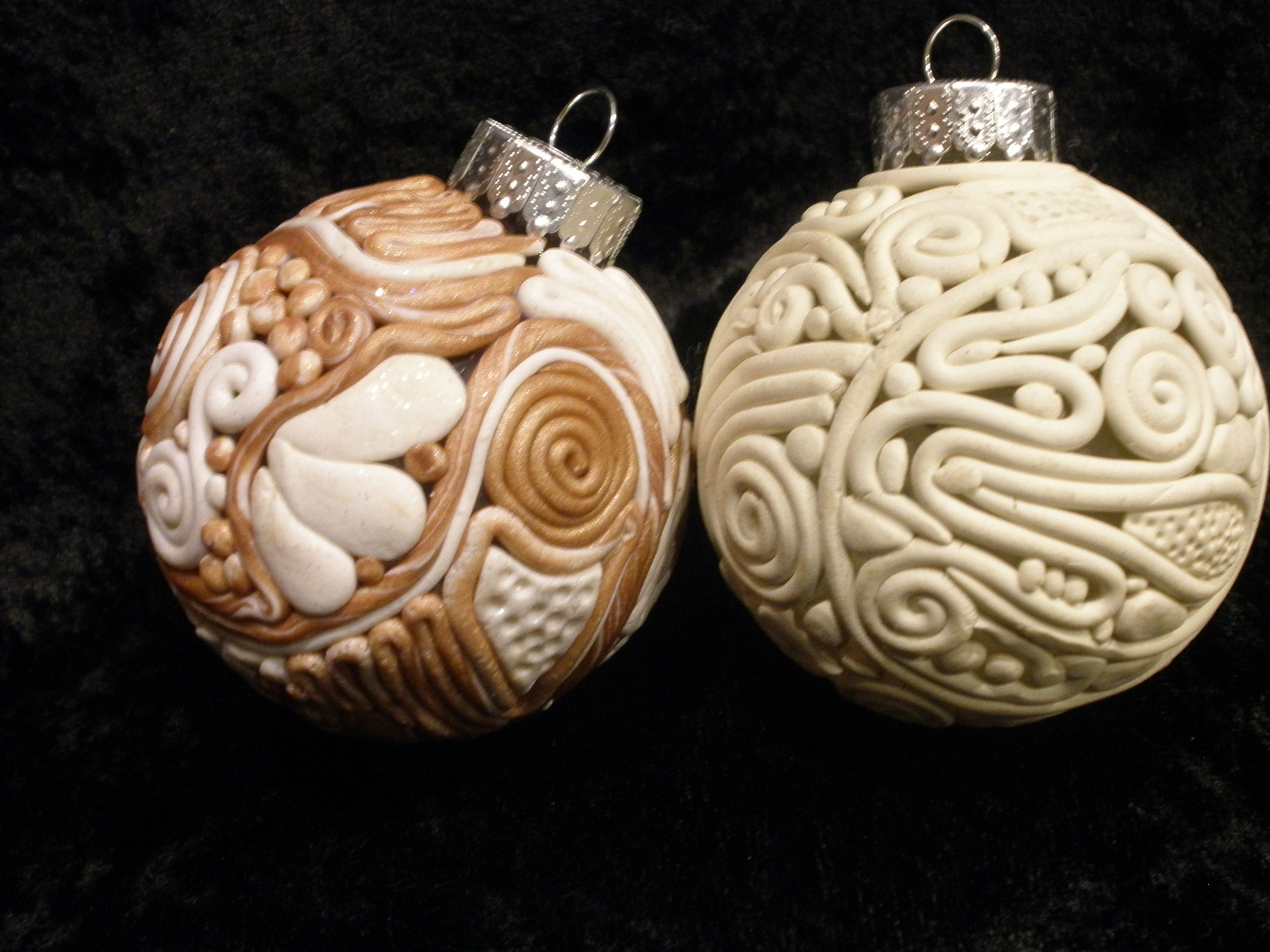 Polymer Clay Over Glass Ornaments Polymer Clay Pin