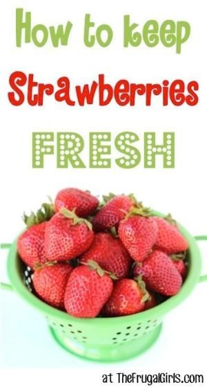 How to Keep Strawberries Fresh! ~ from TheFrugalGirls.com ~ this easy little trick works like a charm! #strawberry #strawberries #thefrugalgirls by jana