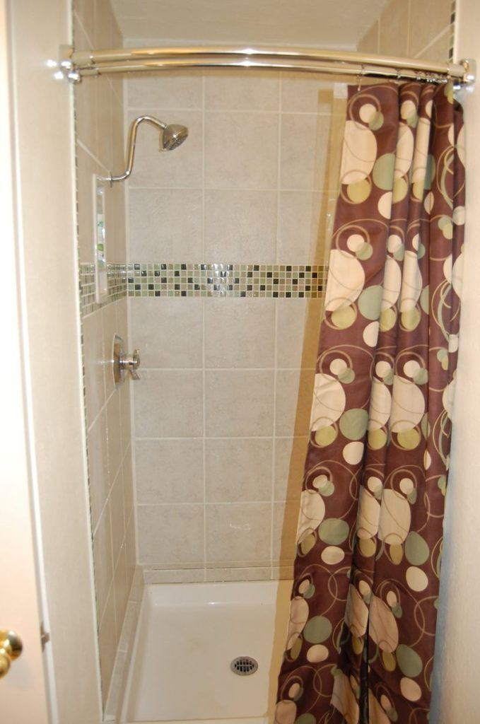 Curved Shower Curtain Rod For Small Stall Decor