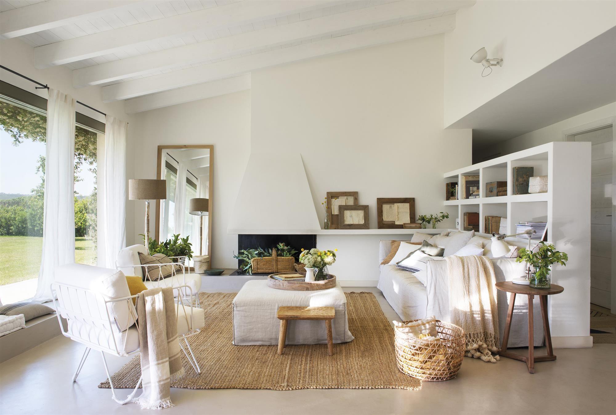 El microcemento blanco  Muebles para casas pequeñas, Salones
