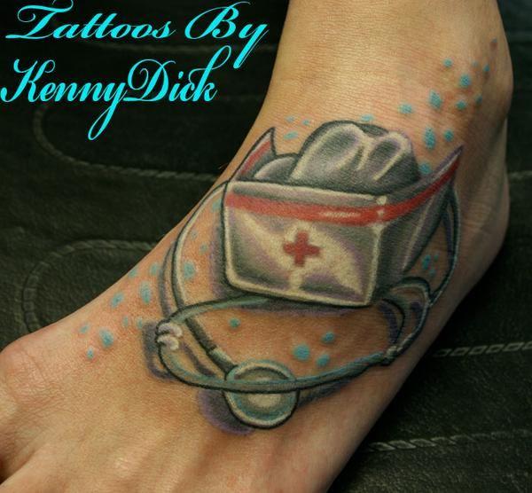 Stethoscope Tattoo | Nurse Hat Tattoo Nurse hat tattoo ...
