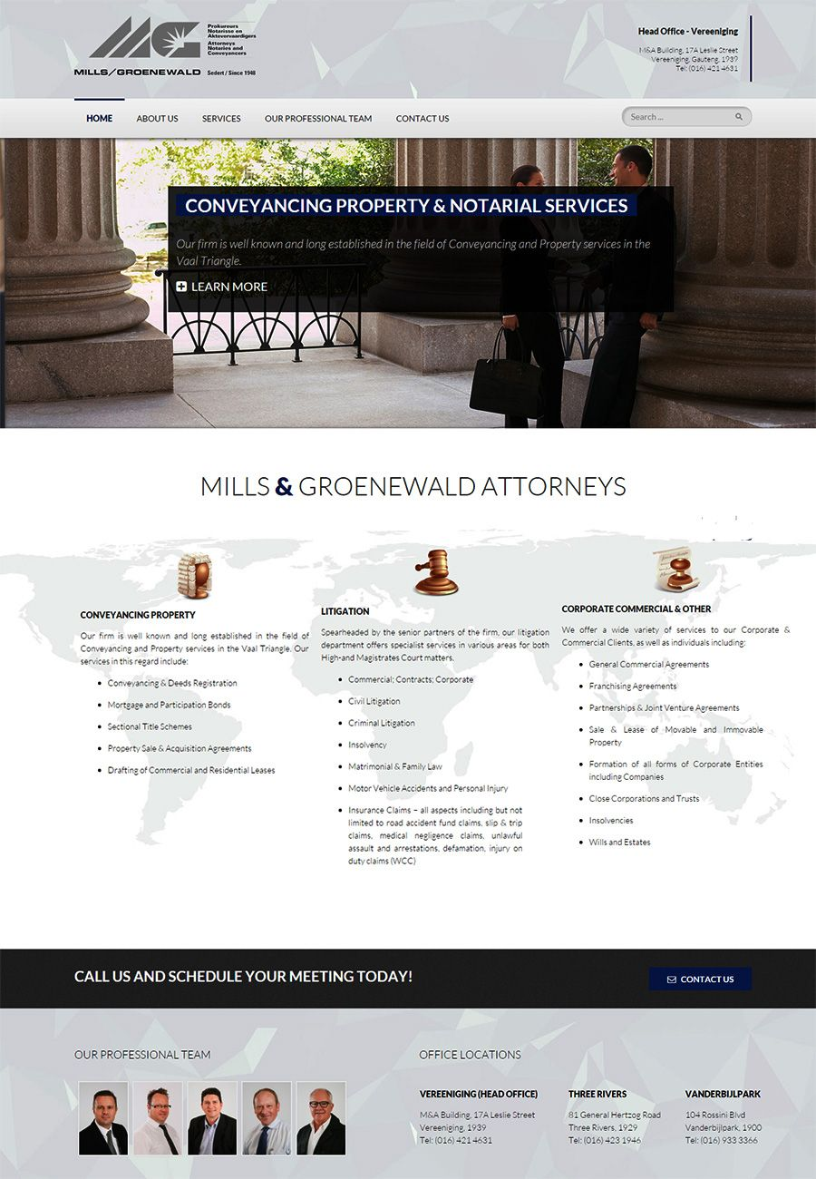 This was a very basic website design with Home, About Us, Services ...