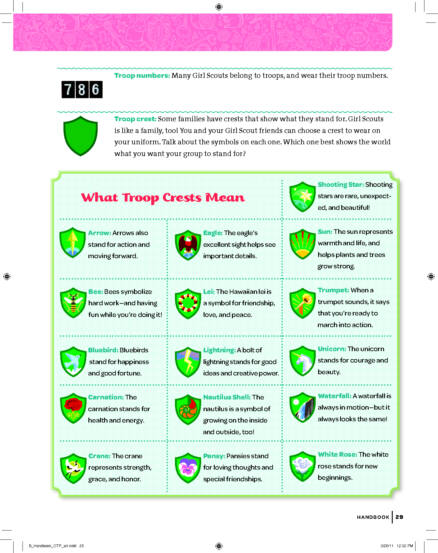 Girl Scout Crest Meanings