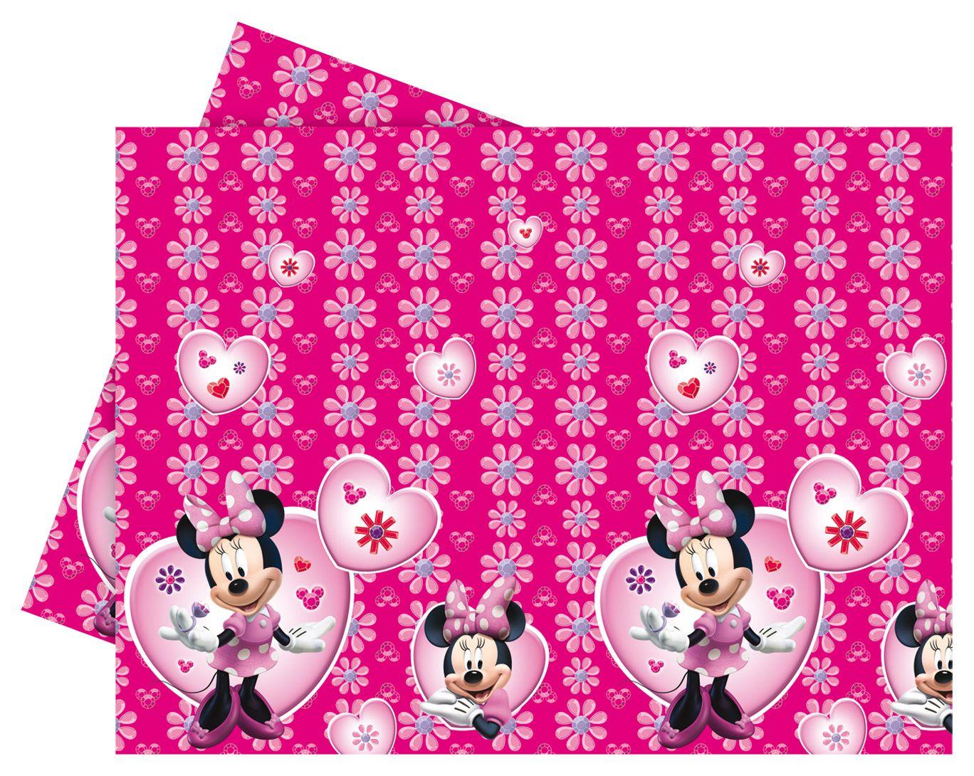 mantel de plstico con minnie mouse perfecto para vestir la mesa del cumpleaos