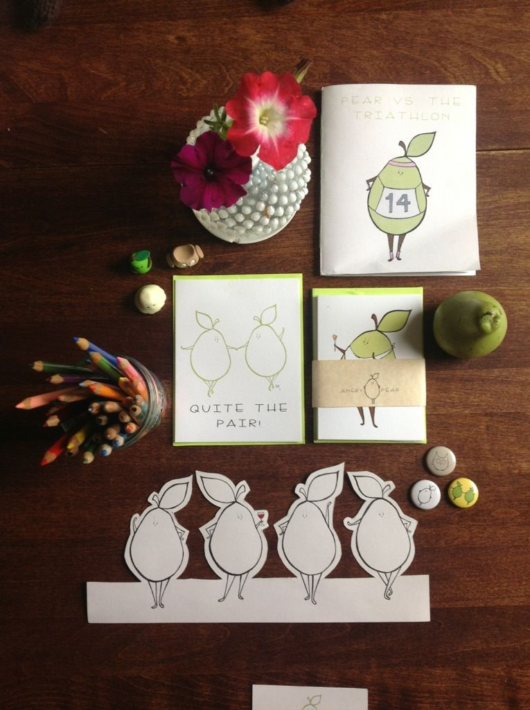 Pearaphernalia (Shop) | Angry Pear  Cards, flowers, colored pencils, pins, pears, comics etc etc etc