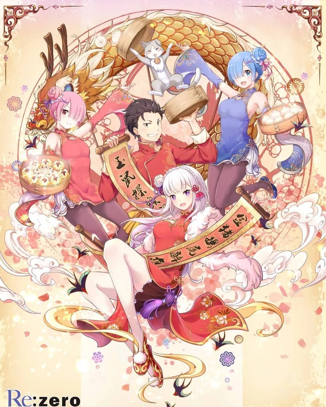 New Year Artwork From Re Zero Starting Life In Another World Infinity New Year Anime Anime Wallpaper Anime