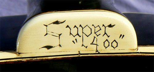 1936 Gibson Super 400 neck heel