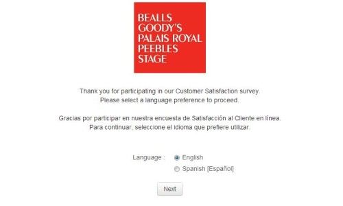Stage Stores Customer Satisfaction Survey, wwwpalaisroyal - satisfaction survey