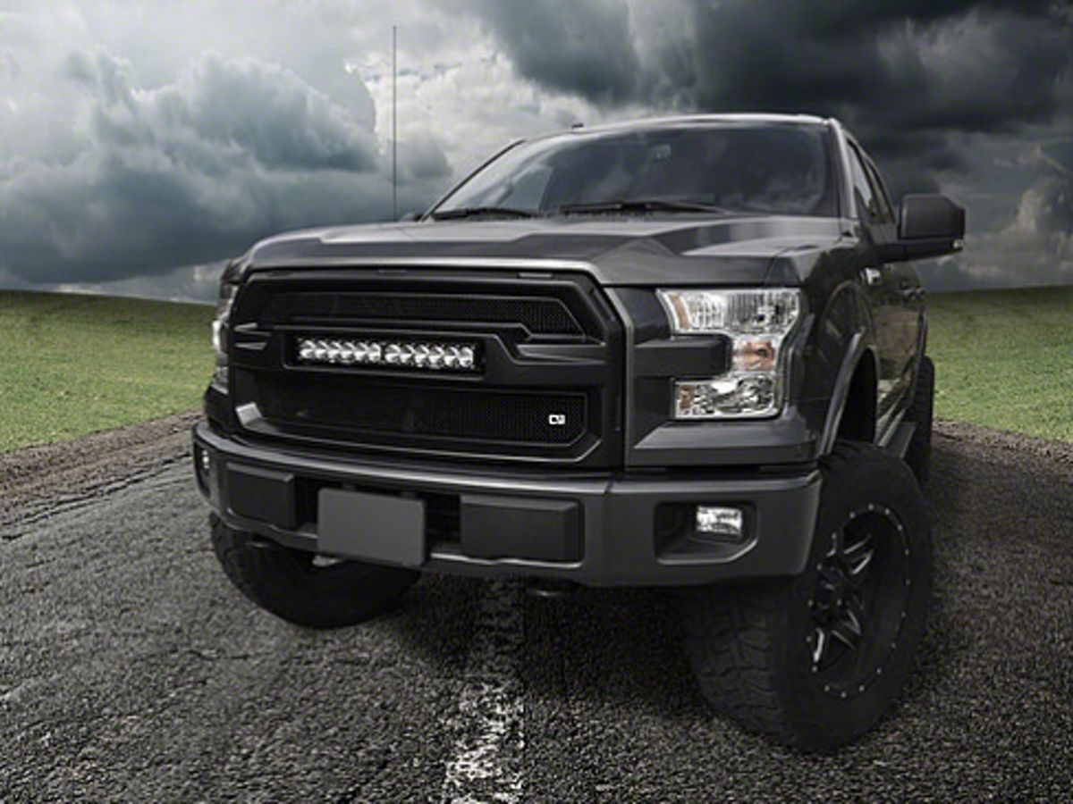 F 150 Upper Replacement Grille With Stl 20 Inch Led Light Bar 15 17 F 150 Excluding Raptor F150 Led Light Bars Grilles