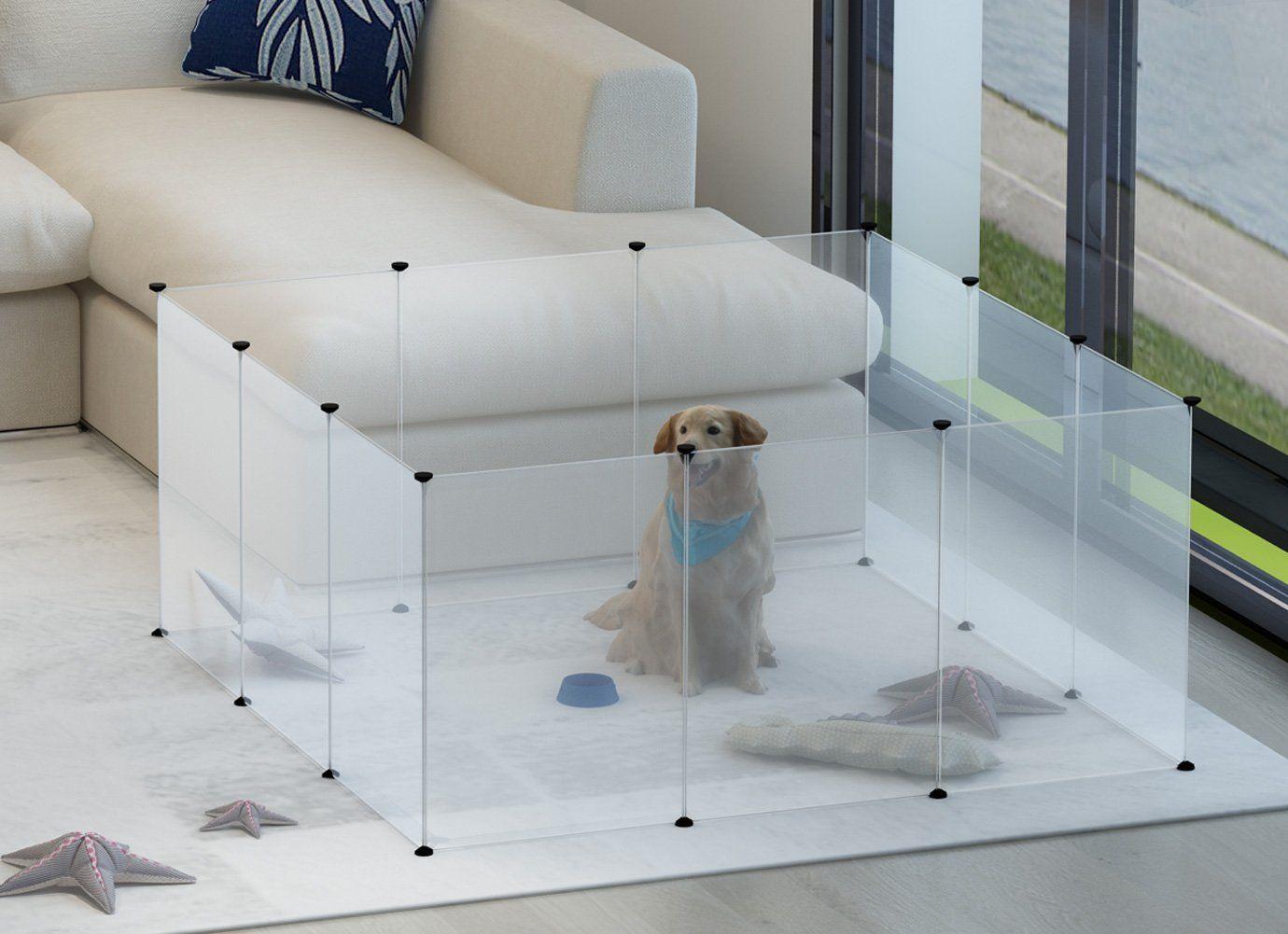Amazon.com: Tespo Dog Playpen, Portable Large Plastic Yard Fence for ...
