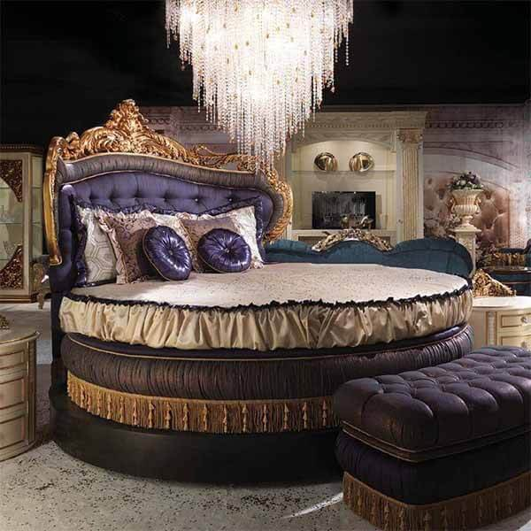 custom high end king size round bed 0127 in 2020