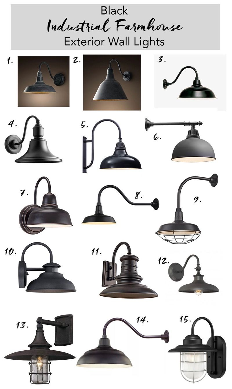 Black Outdoor Farmhouse Lights Lighting Wall