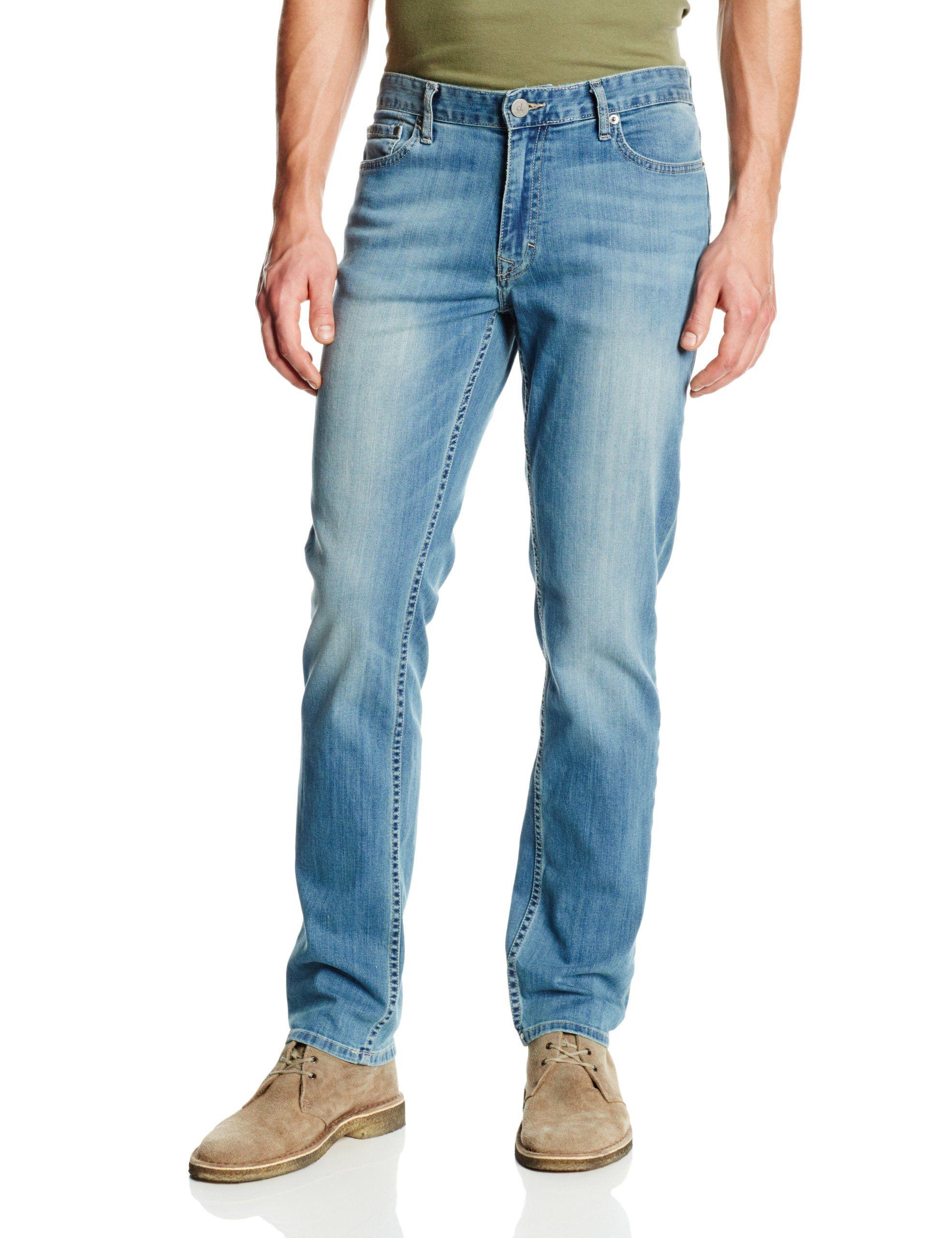 f634f9c00b5 Calvin Klein Jeans Men s Slim Straight Leg Jean In Silver Bullet ...