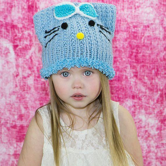 78bb79ab2 Cat hat, cat beanie, kids cat ear hat, kitty beanie, girly hat ...