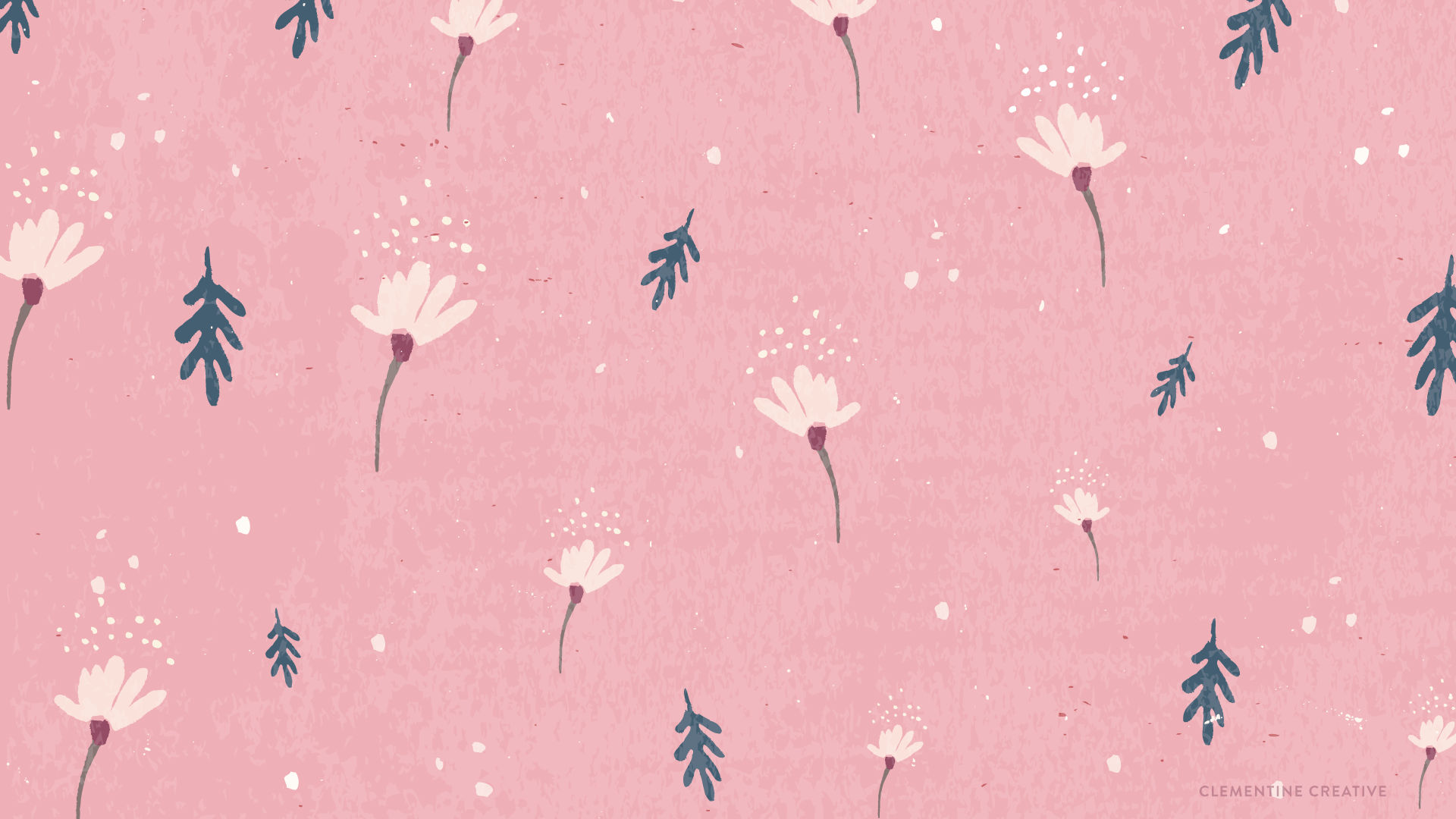 Free Wallpaper Dainty Falling Flowers Pink Wallpaper