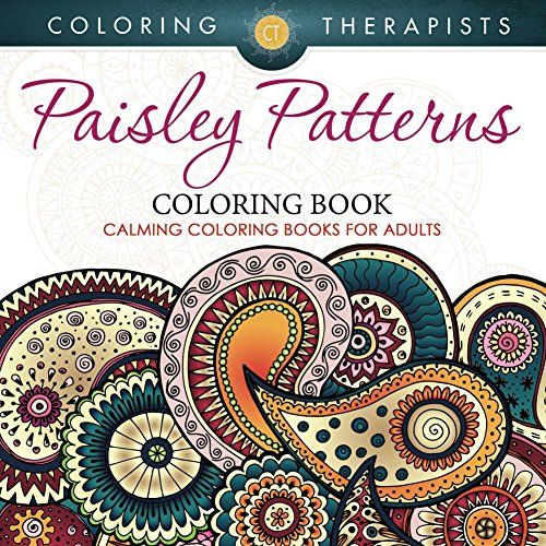 Paisley Patterns Coloring Book Calming Books For Adults