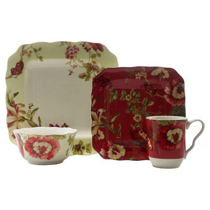 16-Piece Lucia Porcelain Dinnerware Set  sc 1 st  Pinterest & 16-Piece Lucia Porcelain Dinnerware Set | Entertaining Sonoma ...