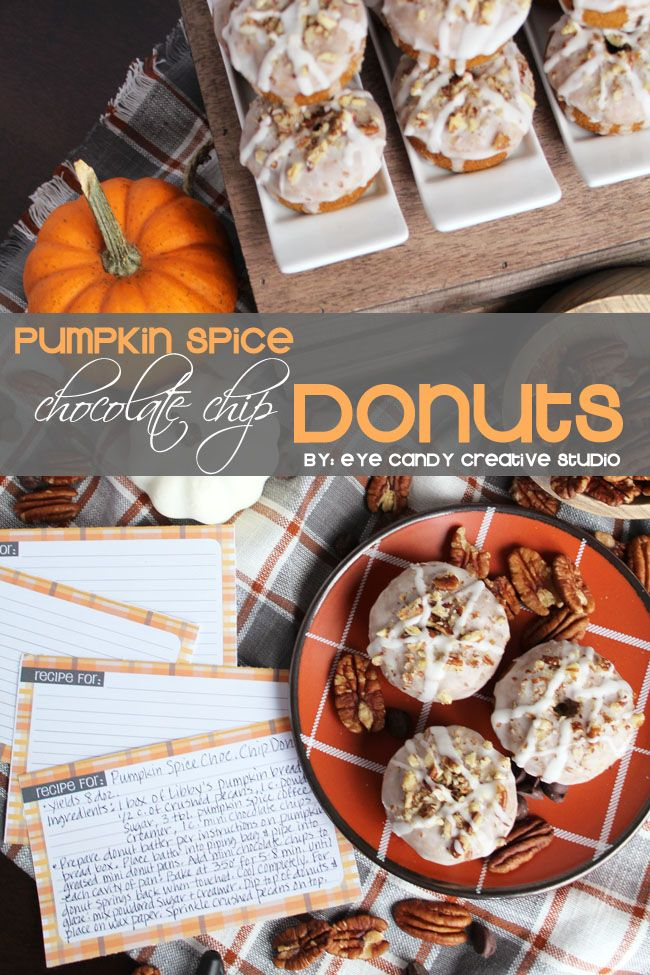Recipe for pumpkin spice chocolate chip donuts free recipe cards recipe for pumpkin spice chocolate chip donuts free recipe cards perfect for thanksgiving day forumfinder Choice Image