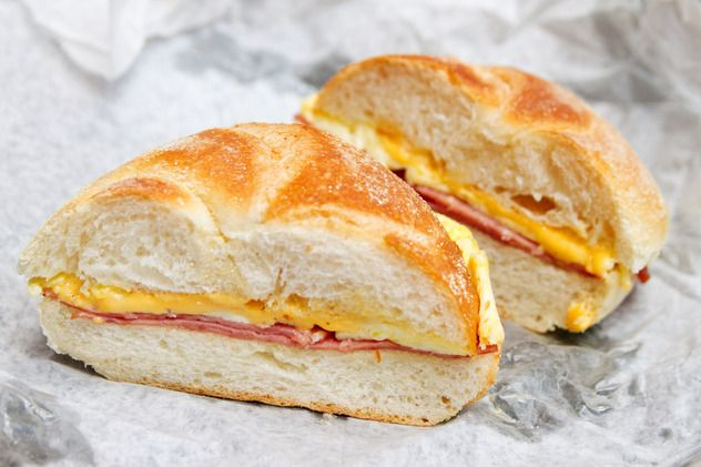 Try this salami, egg and cheese at Classic Coffee Shop on Hester. Visit the closest Duane Reade on the way for a coffee to go with it!