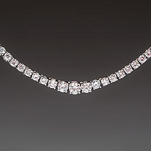 Graduated 10 Carat Diamond Tennis Necklace 14k White Gold Diamond Tennis Necklace Designer Diamond Jewellery