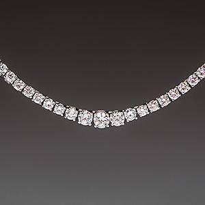 Graduated 10 Carat Diamond Tennis Necklace 14k White Gold Diamond Tennis Necklace Designer Diamond Jewellery
