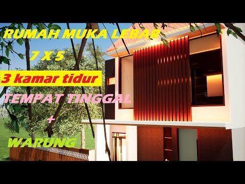 ep 55 desain rumah 7x5 denah warung muka melebar rumah