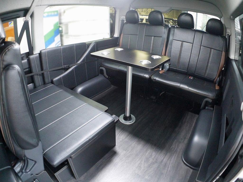 リビングルームのようなカースペースくつろぎ空間 ハイエースfd Box0 リニューアル 横向き規制対応 後ろ向きバージョン Toyota Hiace Wagon ハイエース カー くつろぎ