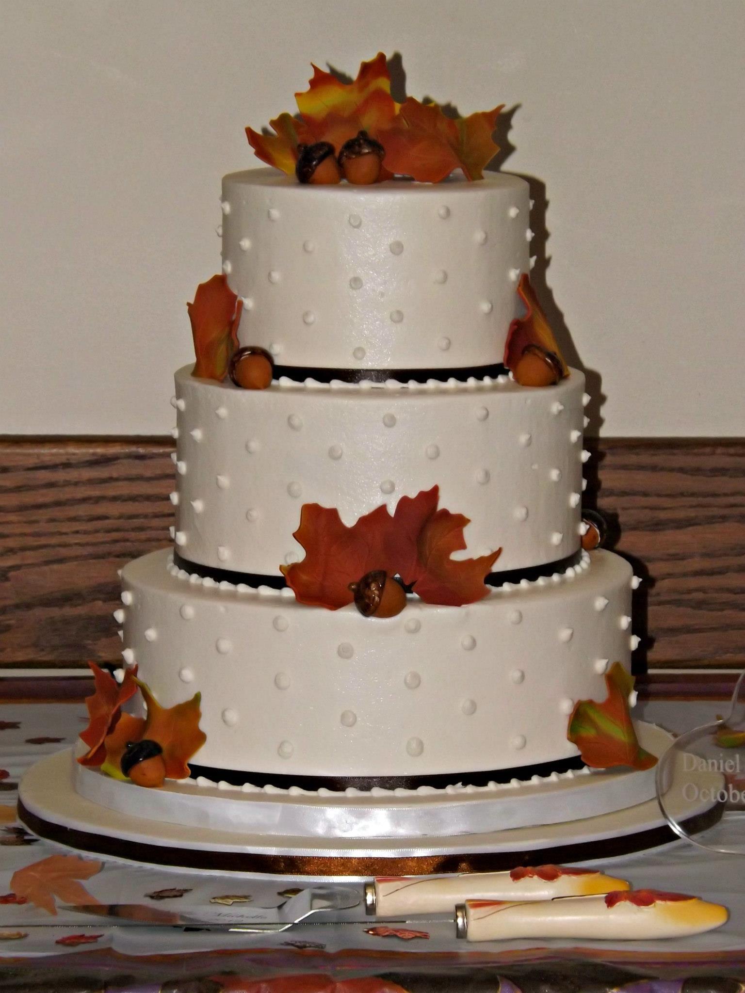 Fall Themed Buttercream Wedding Cake Wicked Wedding Cakes - Wicked Wedding Cakes
