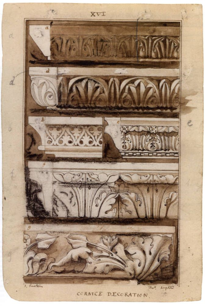 Cornice Decoration (c. 1851), By John Ruskin