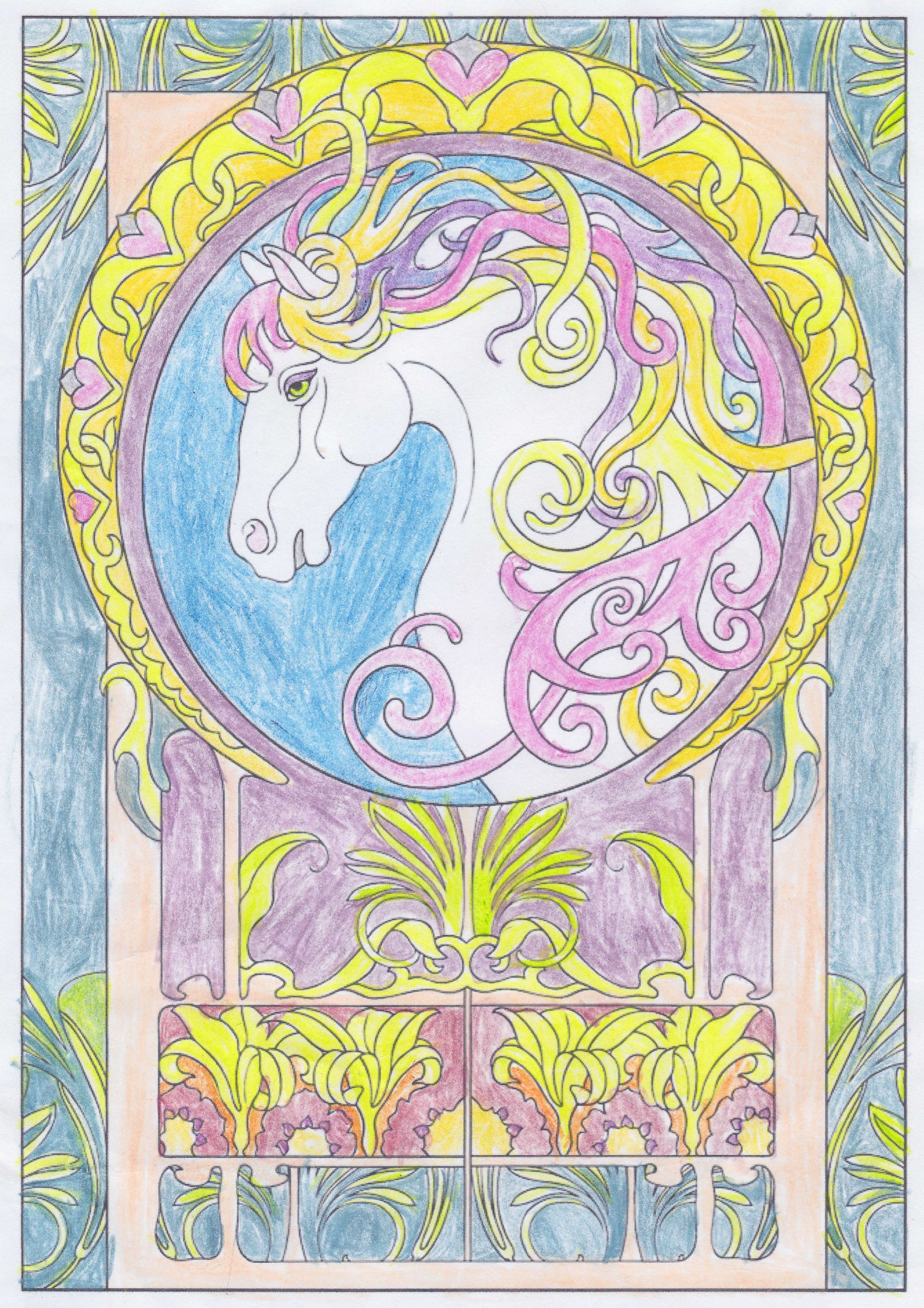 - Emily R. (Under 12 Division) From Art Nouveau Animal Designs