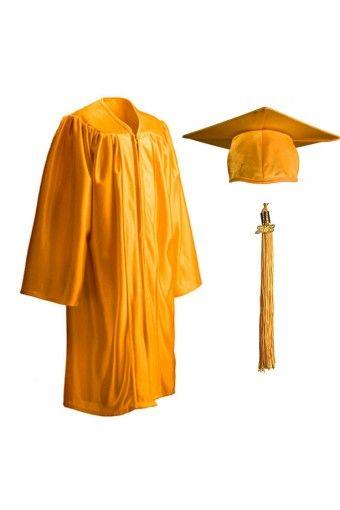 Child Shiny Gold Cap Gown Tassel Graduation Source Graduation